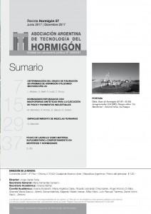 indice Revista HORMIGON 57